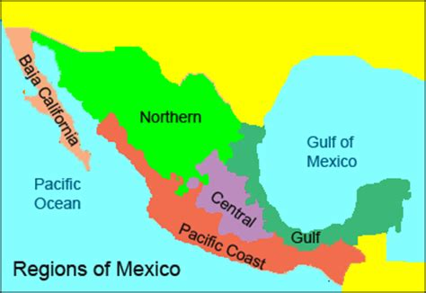 regional map of mexico hotels in mexico