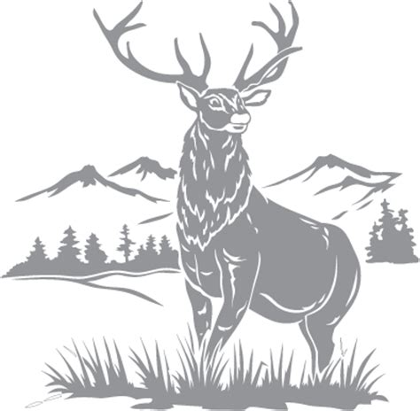stag and mountain pre cut patterns