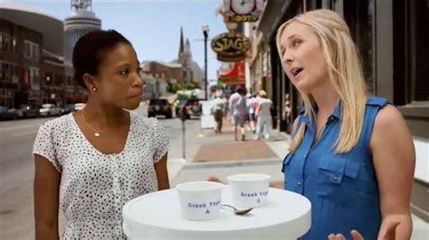 yogurt commercial actress yoplait 100 calorie strawberry greek yogurt tv commercial