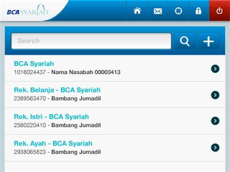 mobile banking  bank bca syariah  tm reynolds