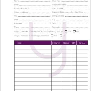 printable jamberry order forms younique presenters supplies there s a sale on