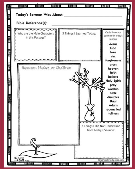 Childrens Worship Service Outline by Image Gallery Sermon Notes