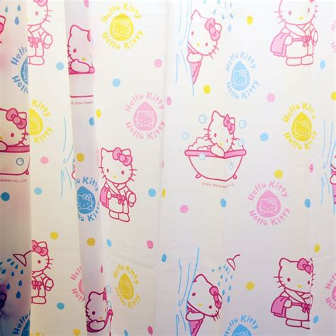 kitty shower curtain hello kitty shower curtain