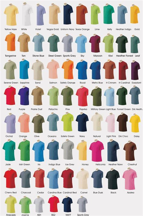 gildan tshirt colors gildan t shirt color chart 2014 crafts t shirt shirt