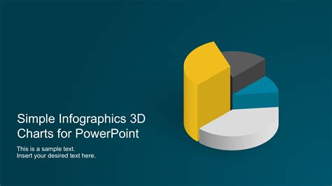 Simple Infographics 3d Charts For Powerpoint Slidemodel Powerpoint Templates 3d