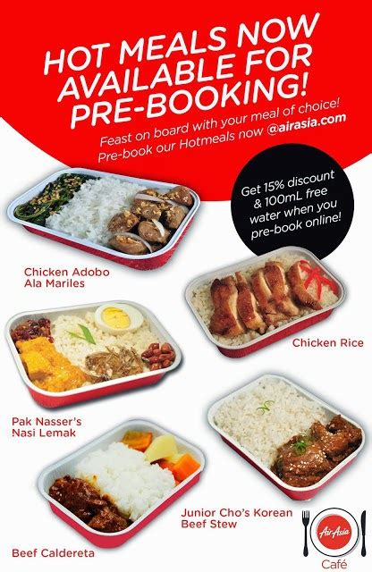 airasia order food tetadventurer press release air asia s inflight menu