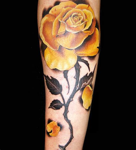 yellow roses tattoos 5 yellow tattoos on forearm