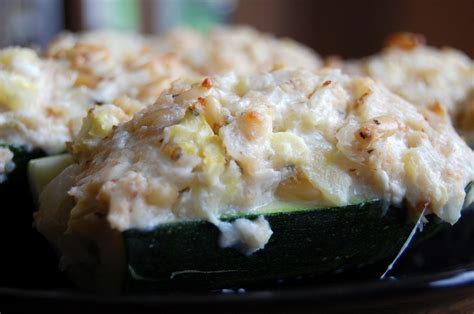 cheese stuffed zucchini boats eat at home - Stuffed Zucchini Boats Cream Cheese