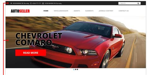 Autoseller Car Dealer Website Design Car Templates Joomla Templates Joomla Automotive Template