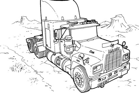 trucks coloring pages free printable truck coloring pages for