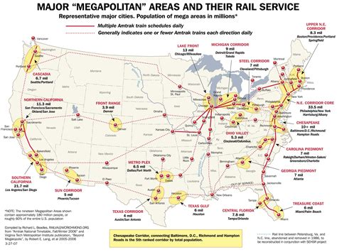 railway map of usa amtrak major railway map united states mappery
