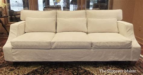 Tailored Slipcovers Custom Sofa Slipcover With A Relaxed Look And Tailored Fit
