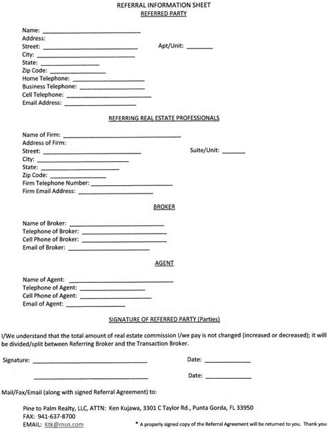 12 Best Photos Of Real Estate Agent Referral Form Free Real Estate Referral Forms Real Estate Real Estate Referral Agreement Template