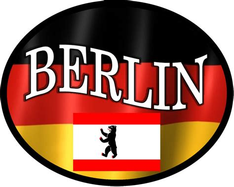 Auto Sticker Berlin by Oval Berlin Germany Vinyl Flag Decal Sticker Ebay