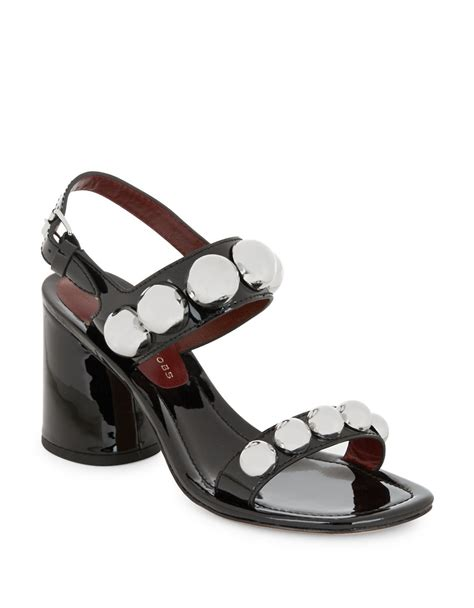 Marck Yacub Heels Shoes marc by marc stevie patent leather sandal heels in