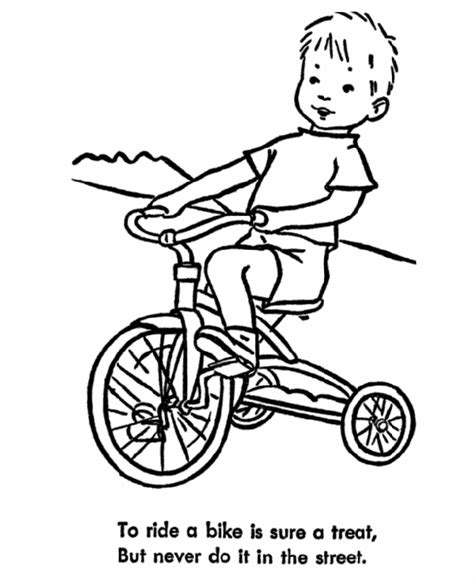 learning years child safety coloring page bike safety