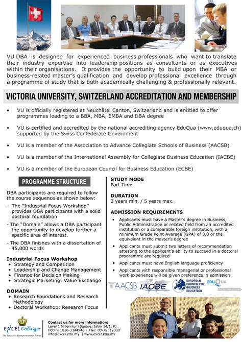 Master In Mba Malaysia by Master Of Business Administration Course In Malaysia