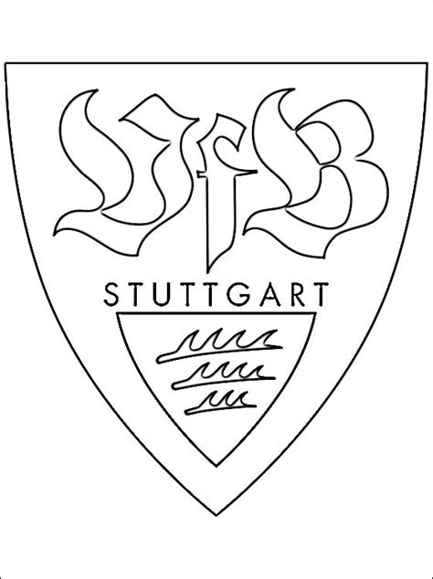 emblem  vfb stuttgart coloring page coloring pages