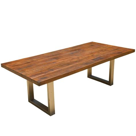 contemporary solid wood dining table acacia lyon large contemporary rustic solid acacia wood