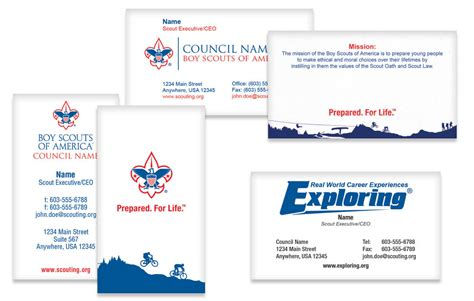 bsa card template stationery spectrum boy scout marketing solutions