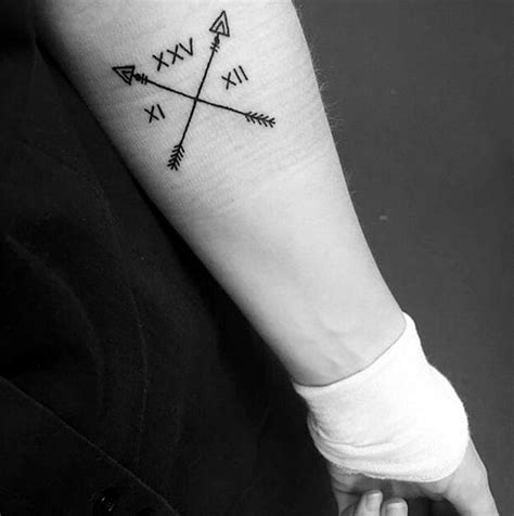 small roman numeral tattoos 40 cool and classic numerals to get this year