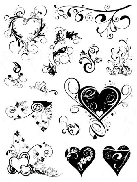 heart and scroll tattoo designs 25 best ideas about swirls on flourish