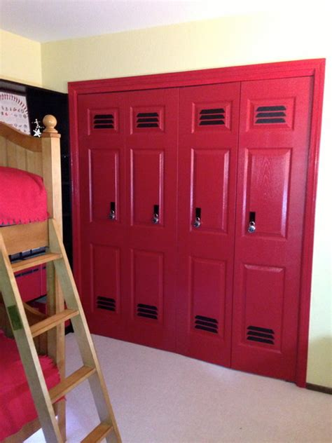 closets made to look like lockers great sports themed