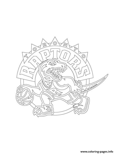 coloring pages nba logos toronto raptors logo nba sport coloring pages printable