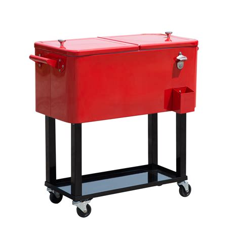 Rolling Patio Cooler Cart by Outdoor Patio 80quart Portable Rolling Cooler Cart