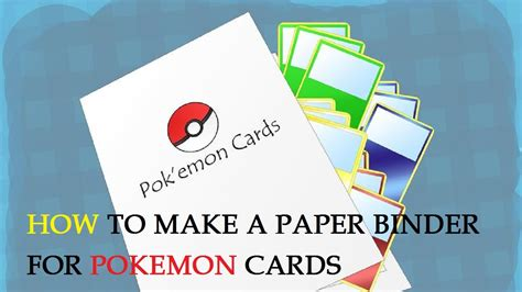 How To Make A Card Out Of Paper - how to make a paper binder for cards