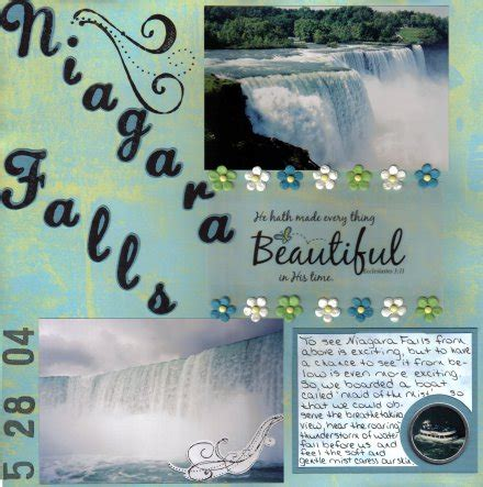 scrapbook layout waterfalls niagara falls scrapbook com scrapbook layouts