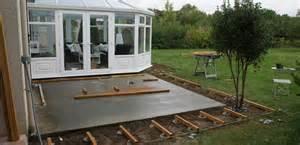 comment poser une terrasse bois sur b 233 ton terrasse bois