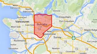 where is burnaby canada on map burnaby civic election candidates columbia cbc