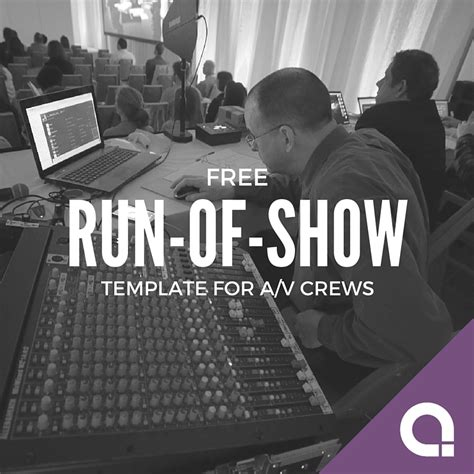 Run Of Show Template Templates Station Show Templates