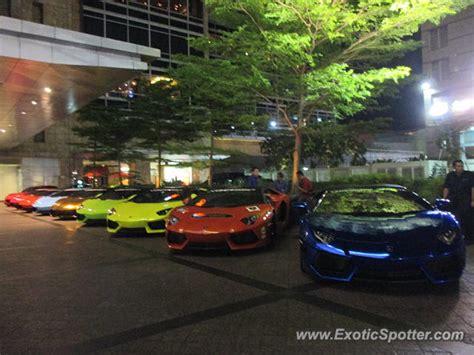 Lamborghini Aventador spotted in Jakarta, Indonesia on 12