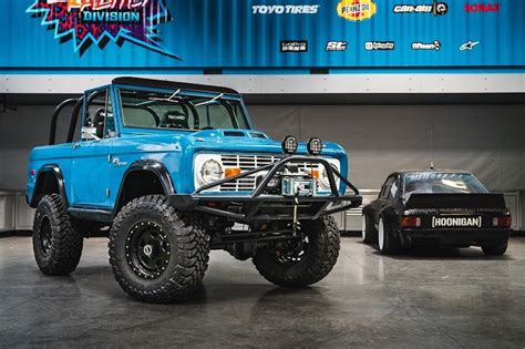 ford block ken block gifts a coyote powered ford bronco ford