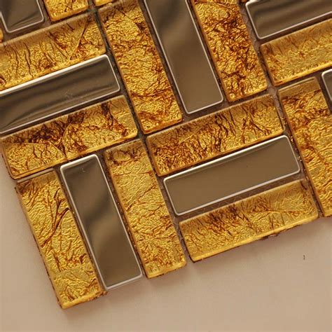 gold tile backsplash wholesale metallic backsplash tiles gold 304 stainless