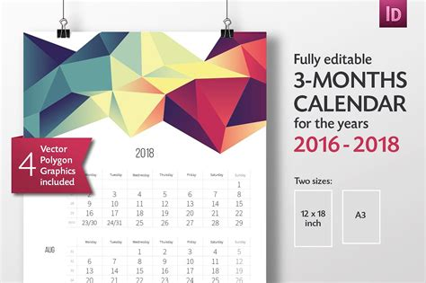 calendar indesign template 2017 calendar template indesign calendar