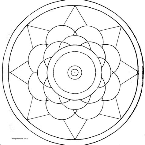 Easy Mandalas Az Coloring Pages Mandalas To Color Easy