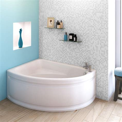 Beo Melody Off Set Corner Shower Bath And Panel Left Hand Corner Shower Tub Small Bathroom