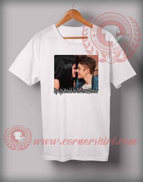 Tshirt Justin justin selena t shirt on sale by cornershirt