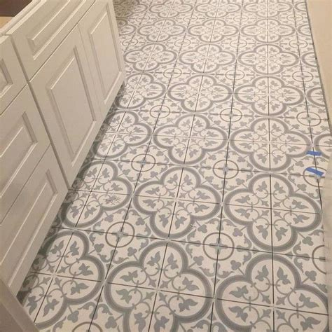 10 X 8 White Ceramic Tile by Cheverny Blanc Encaustic Cement Wall And Floor Tile 8 X 8