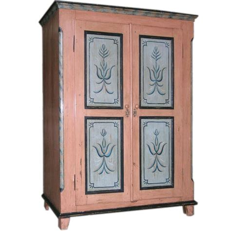 painted computer armoire 19th c armoire wardrobe or computer cabinet at 1stdibs