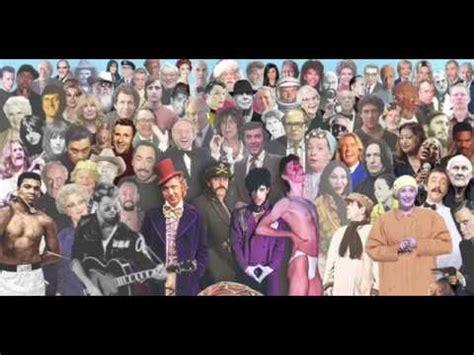 people who die 2016 people who died 2016 murray valeriano youtube