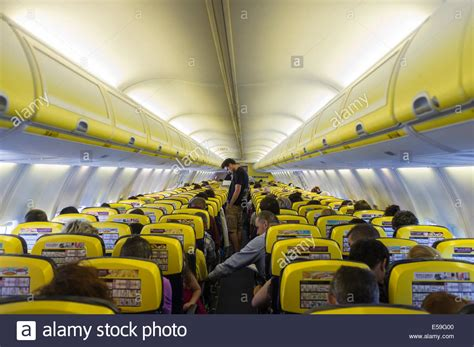 boeing 737 cabin ryanair boeing 737 800 cabin interior stock photo