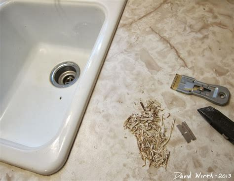 fix caulk around a sink