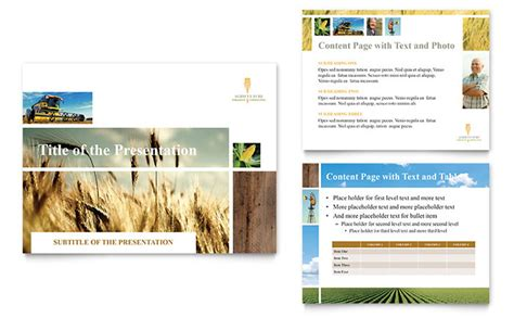 Farming Agriculture Powerpoint Presentation Template Design Agriculture Powerpoint Templates