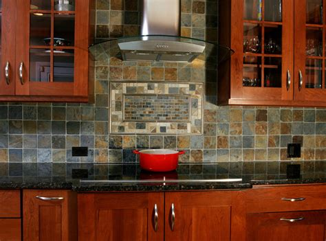 cooktop backsplash transitional kitchen
