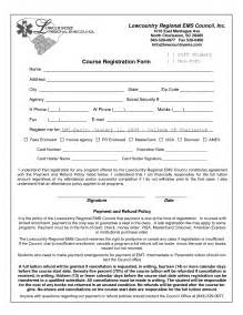 best photos of class registration form template word