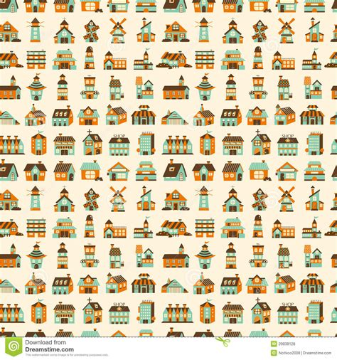 house pattern vector seamless retro house pattern royalty free stock photos